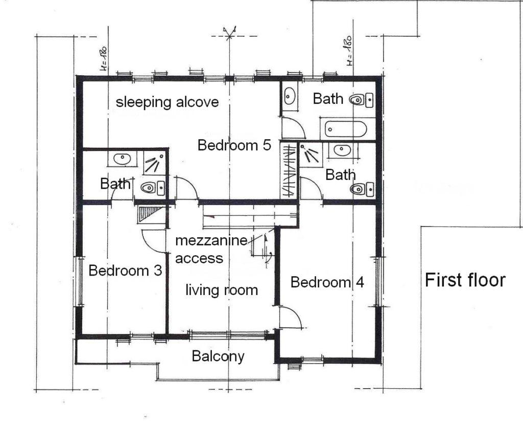 arnica plan étage anglais